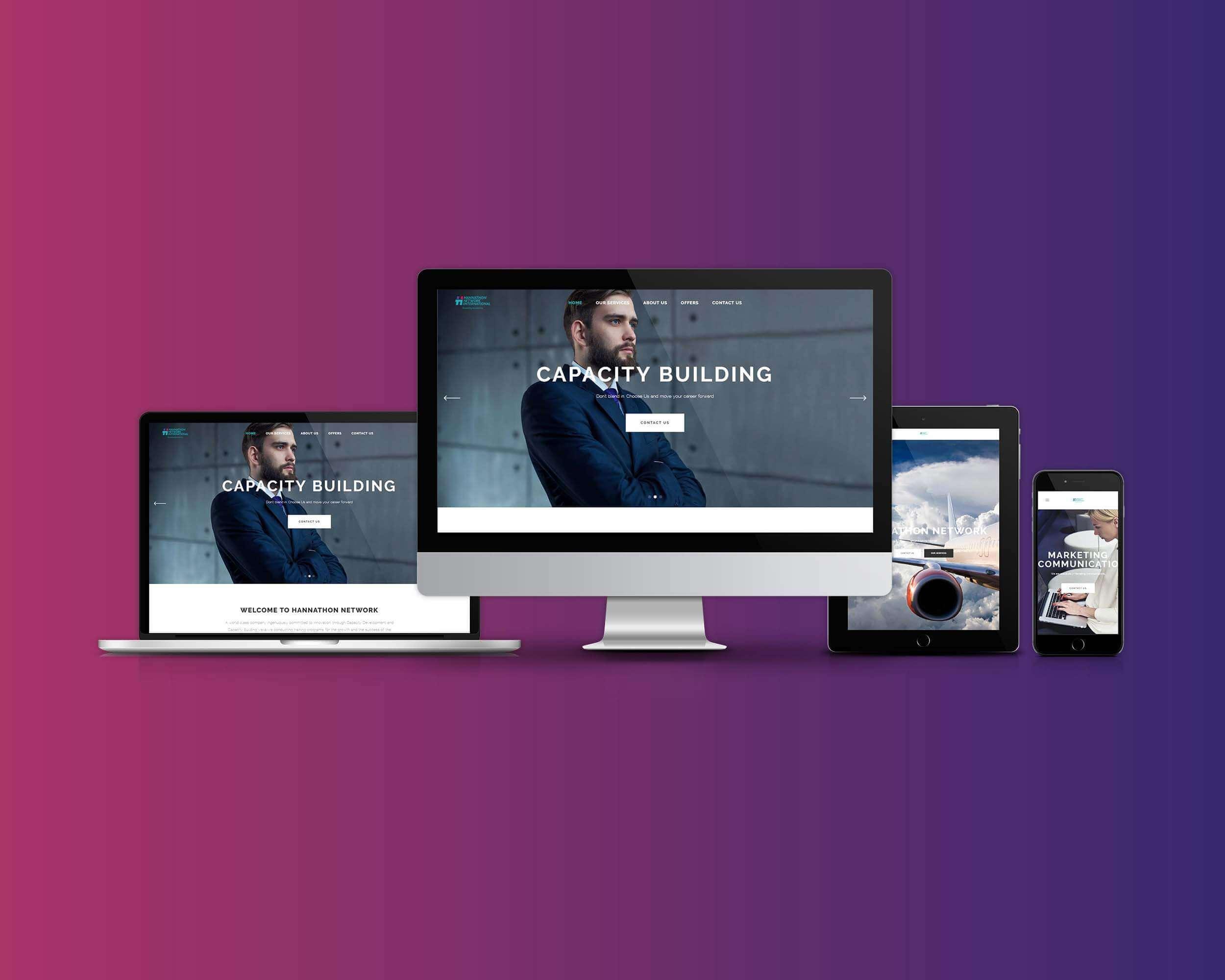 Hannathon Network Website Development