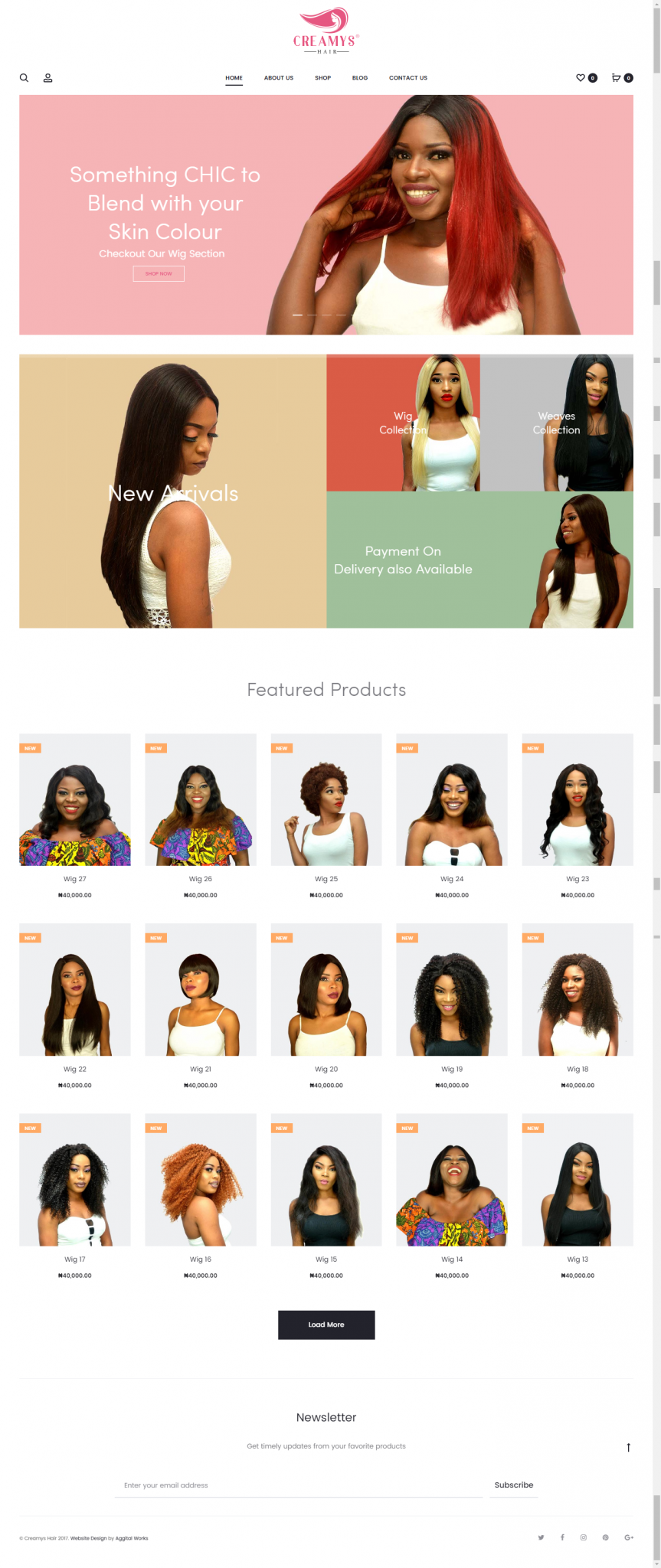 Creamy's Hair Website Design and Development