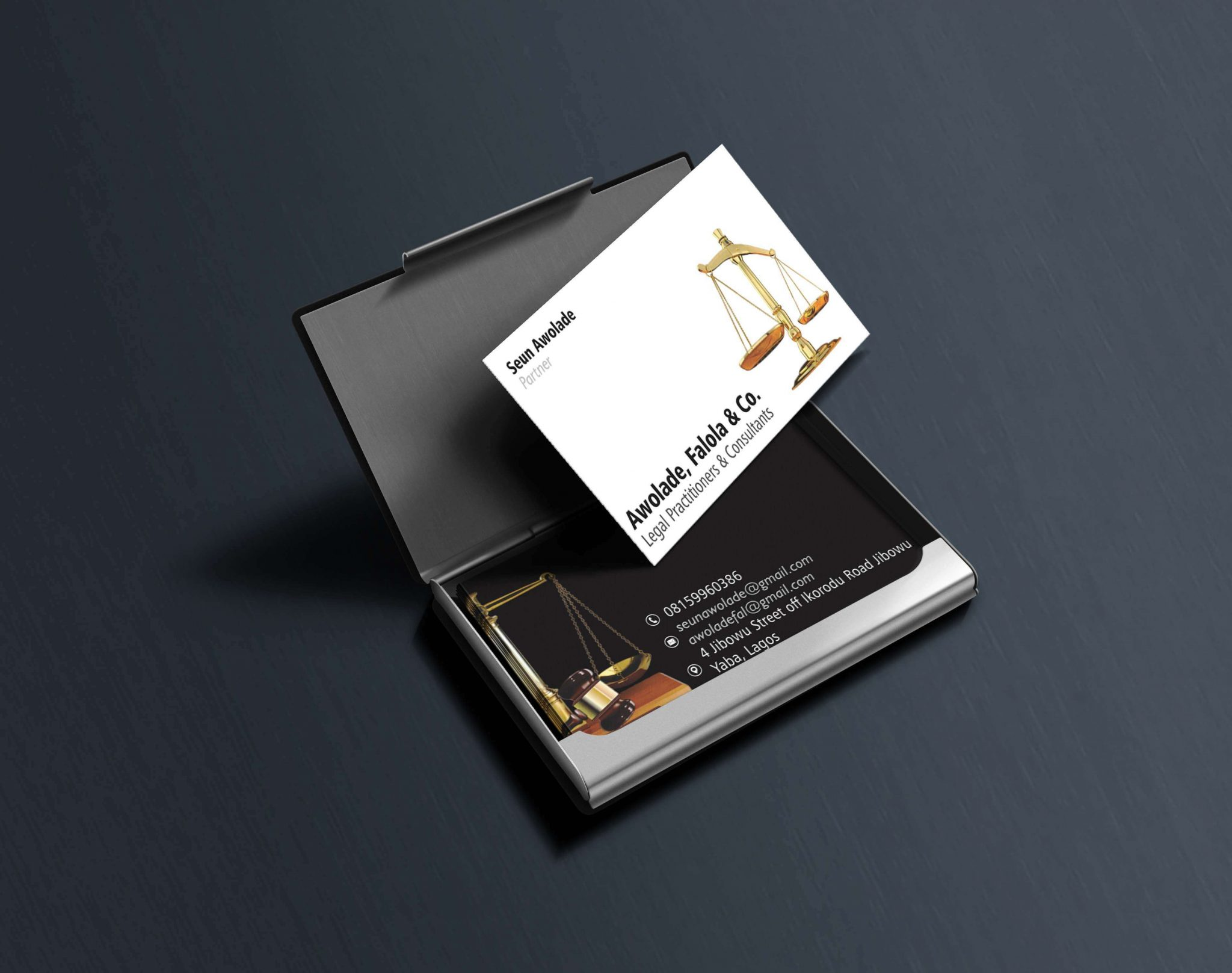 Awolade & Co - Business Card Design - Aggital Works
