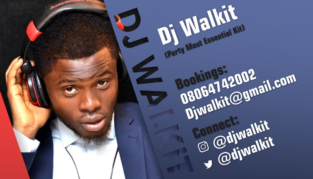 DJ Walkit Logo & Business card