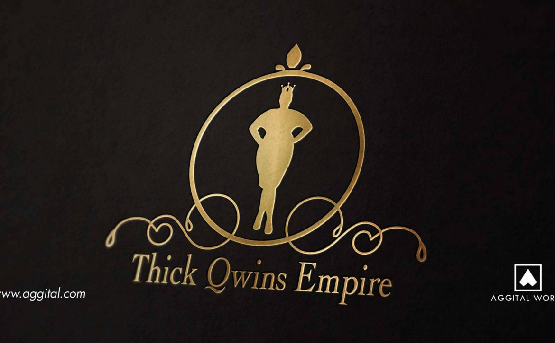 Thick Qwins Empire Logo Design & Carrier Bag