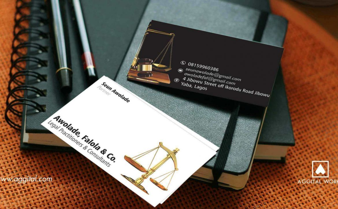 Awolade & Co - Business Card Design