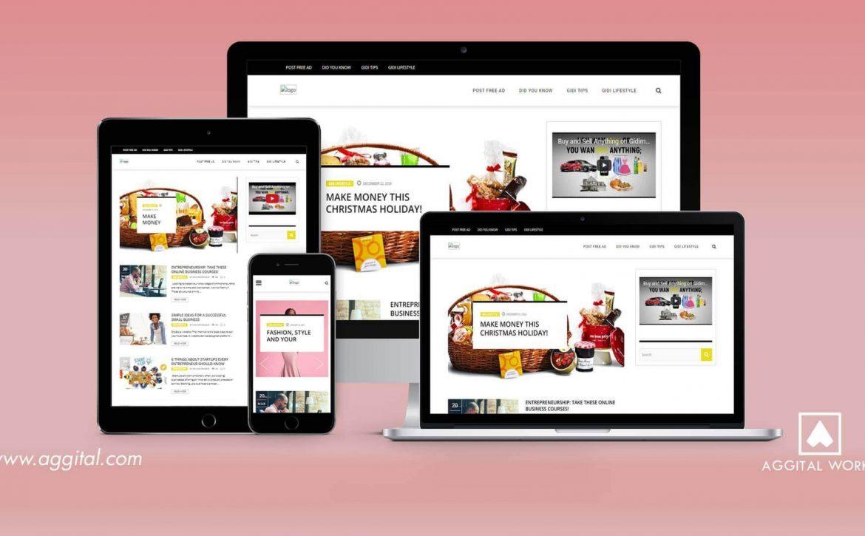 Gidimarket Blog Development