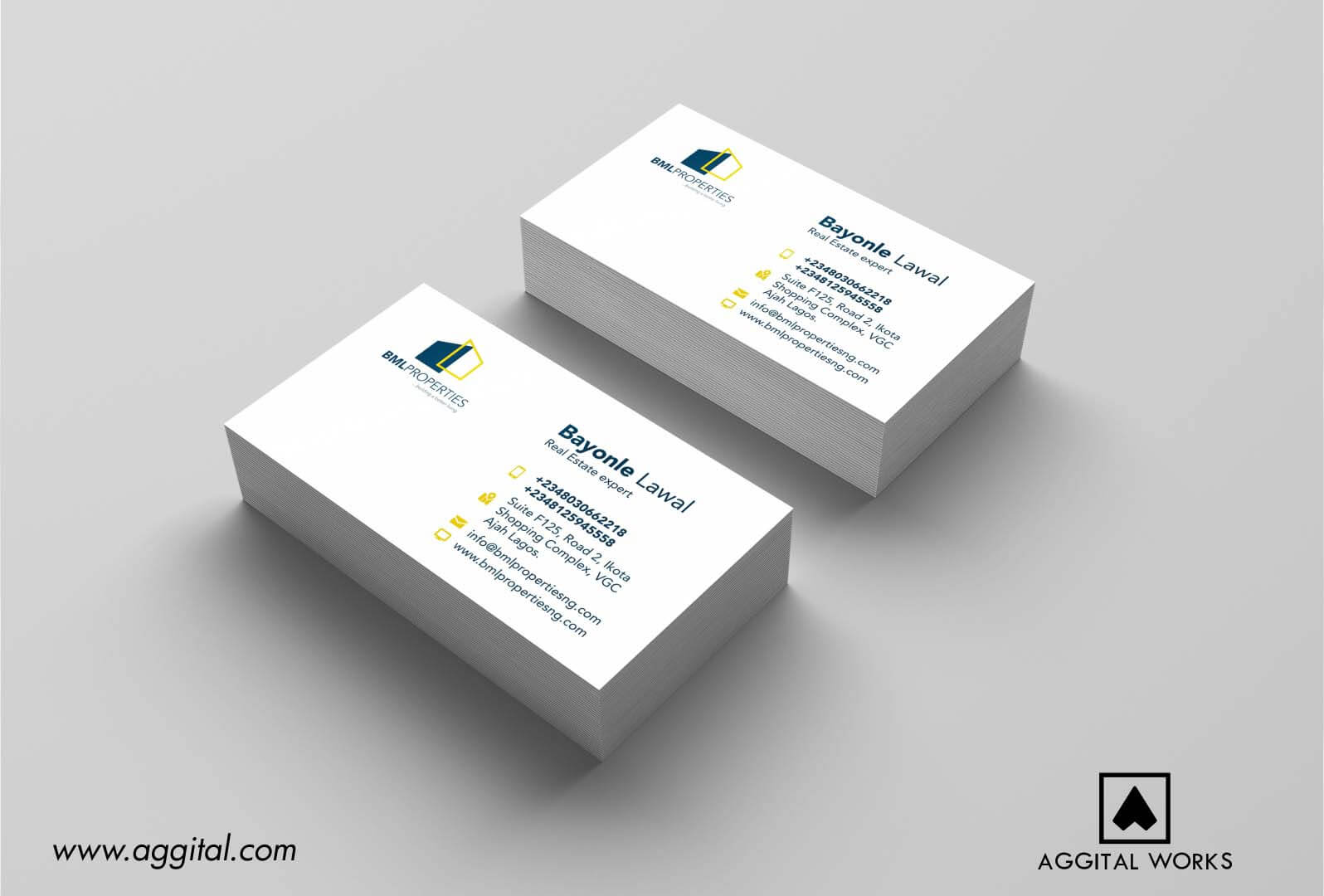 Bml properties logo design and business card aggital works bml properties logo design and business card magicingreecefo Image collections