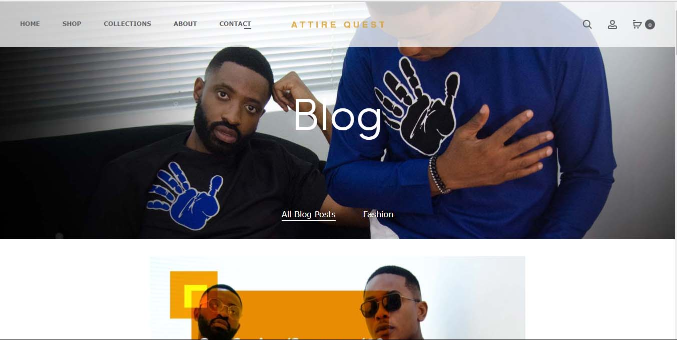 Attire Quest Content Creation - A Bespoke Fashion Brand