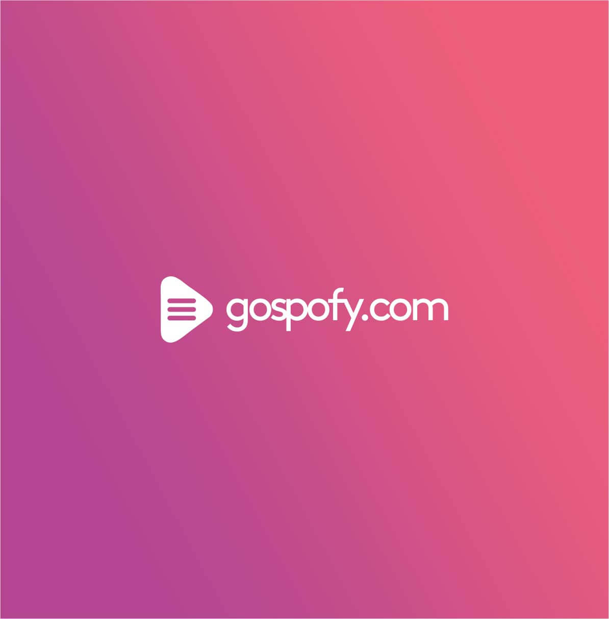Gospofy Logo Design - Website Exclusive To Gospel Music