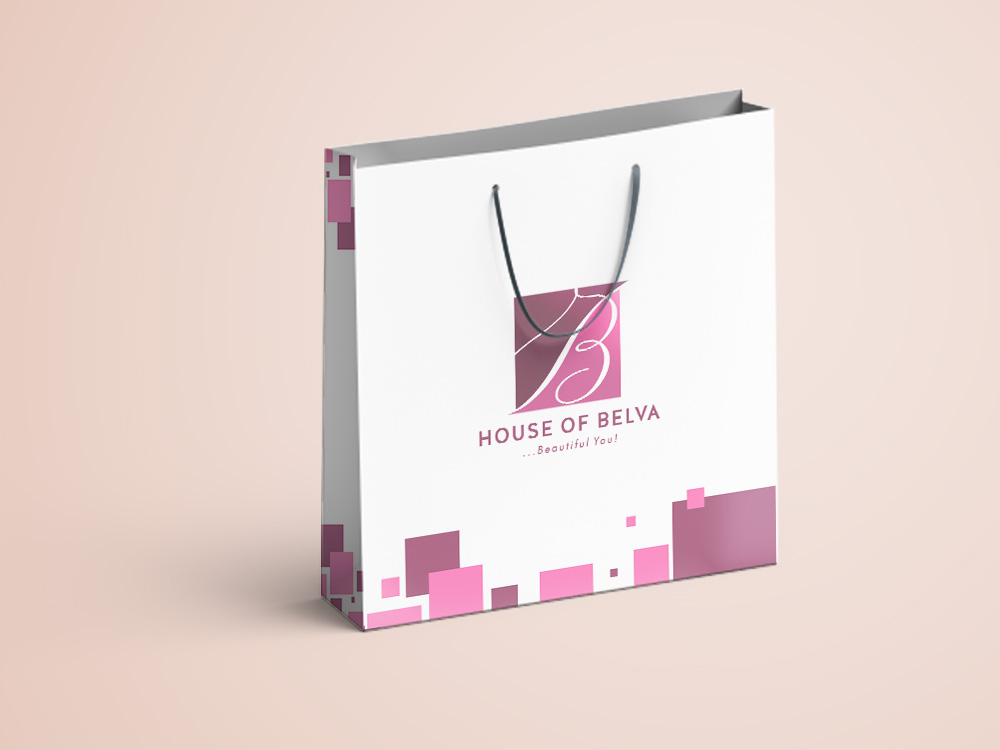 House of Belva Carrier Bag Design
