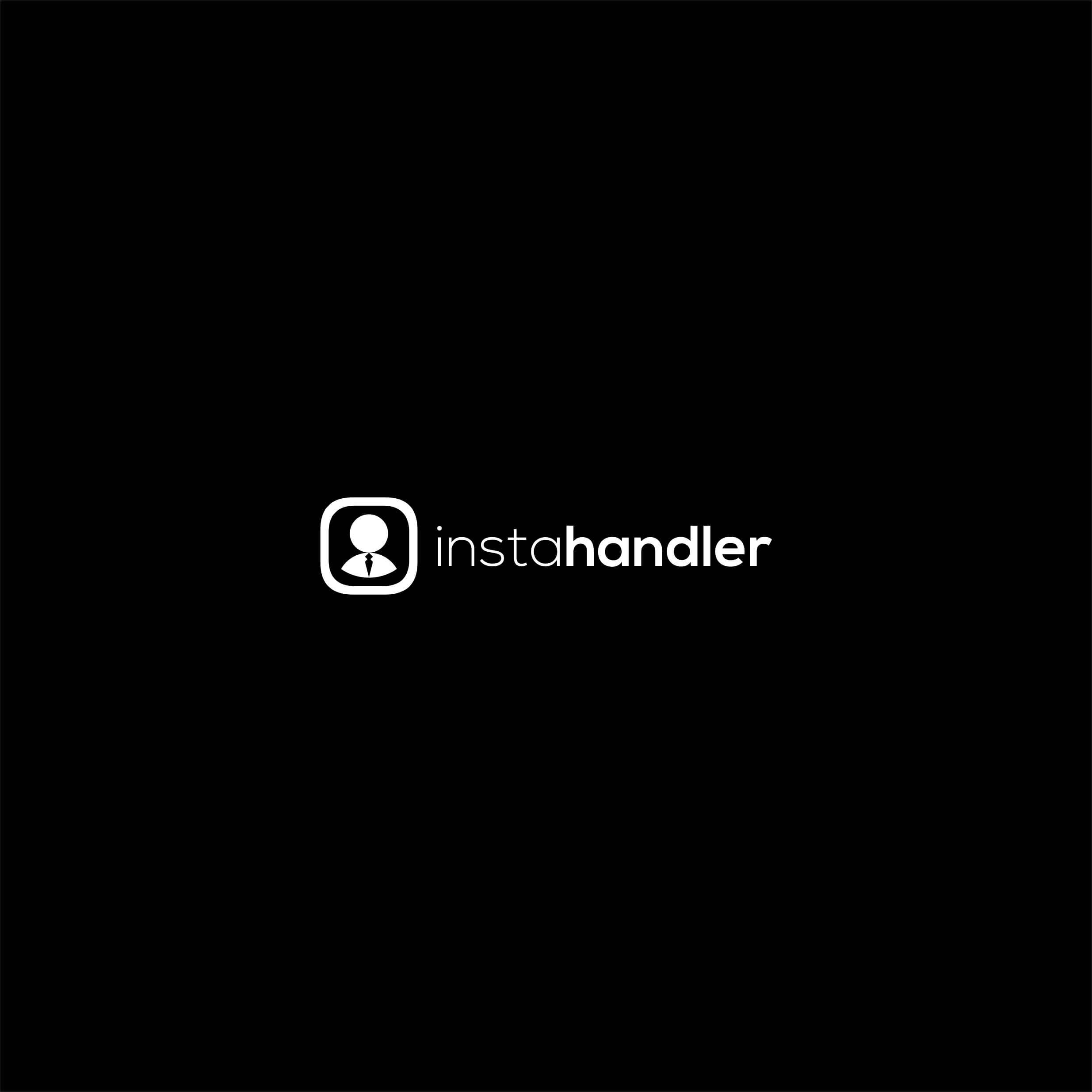 InstaHandler Logo Design - Web Application For Instagram