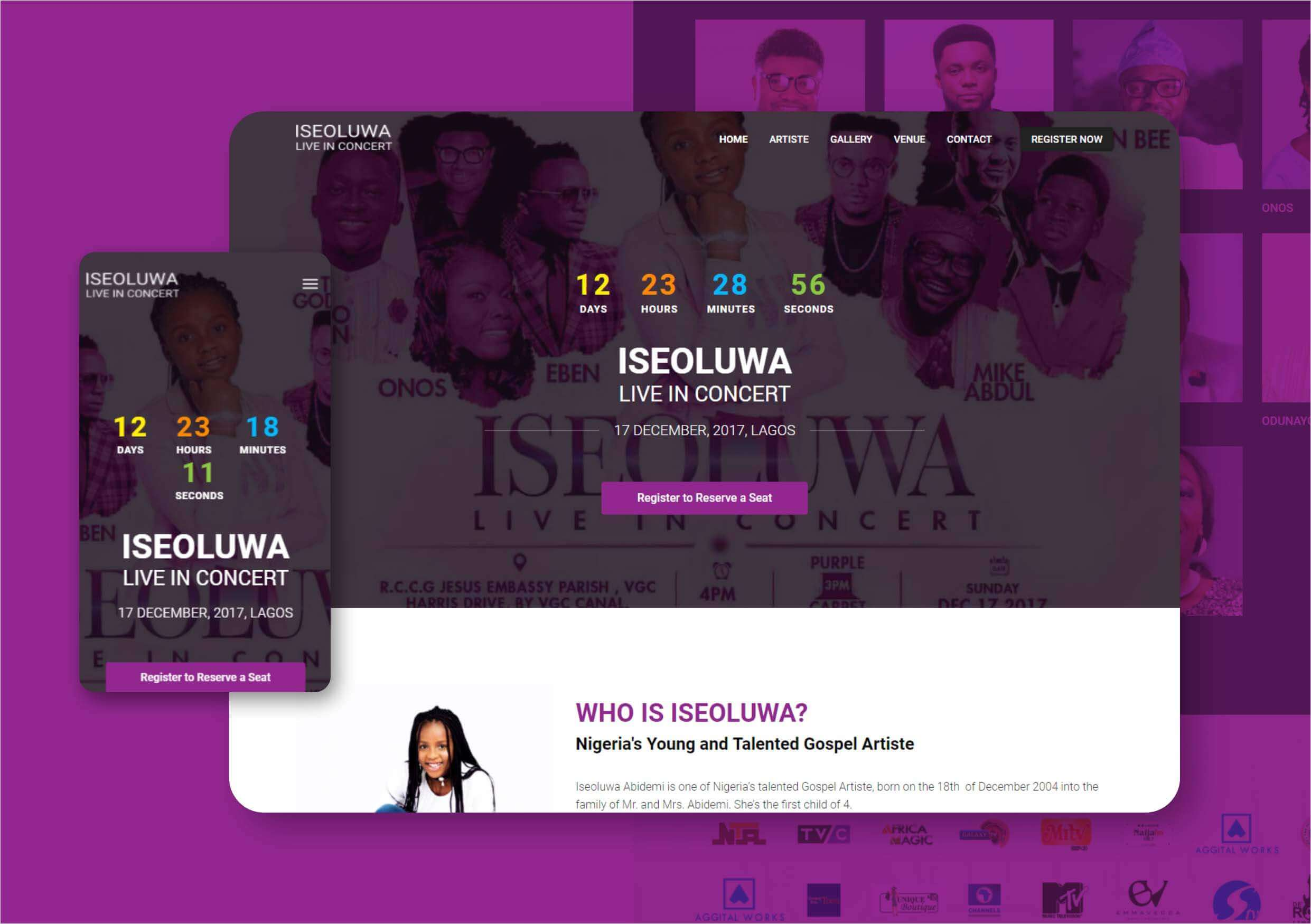 Iseoluwa Website Design and Development