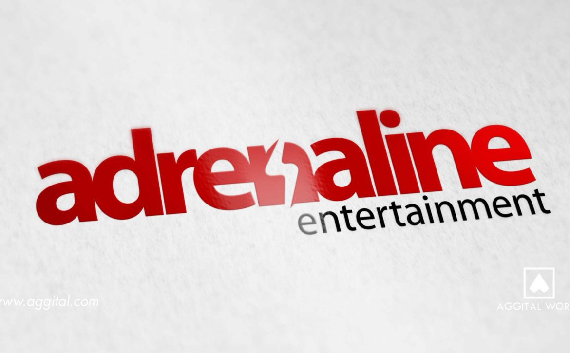 Adrenaline Entertainment – Business Card for a Music Brand.