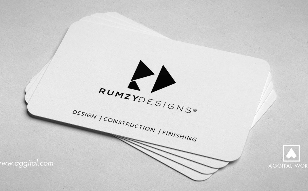 Rumzy Designs – Business Card for a Construction Company.